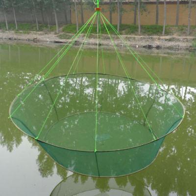 Folding  Drop Landing Fishing Net Great Pier Harbour Pond Prawn Bait Crab Shrimp (Drop Net)