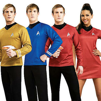Deluxe Star Trek Adults Fancy Dress Sci Fi Movie Mens Ladies Costume Outfits