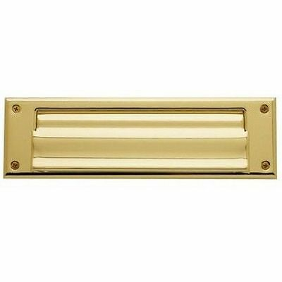 Letter Mail Door Plate Slot Inside Opening Steel Spring Loaded Flap 3  X 10