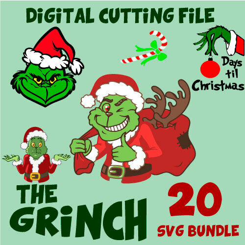 The Grinch Digital cutting file  SVG ( Whoville Characters The Grinch)