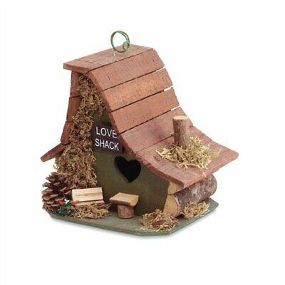 Love Shack Green Wood Birdhouse