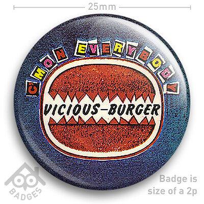 "The Sex Pistols VICIOUS BURGER Sid Record Cover JAMIE REID - NEW - 25mm 1"" Badge"