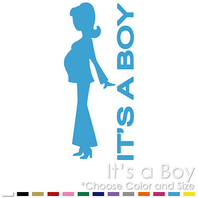 IT'S A BOY BIRTH ARRIVAL ANNOUNCEMENT BABY SHOWER VINYL DECAL STICKER