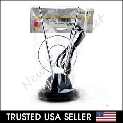Dual Hdtv (Rabbit Ear TV Antenna for HDTV Plus UHF/VHF with Dual loop and 3FT Long Cable )