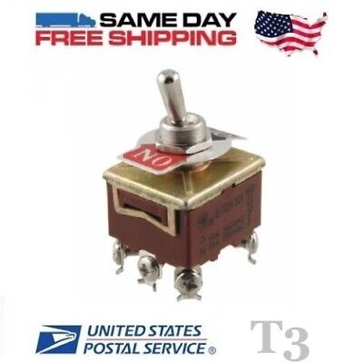 Tpst Triple 3 Pole Single Throw 3pst 6-pin On-off 15a Toggle Switch