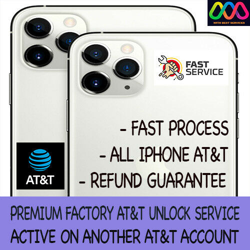 PREMIUM FACTORY UNLOCK SERVICE FOR AT&T iPhone 12 Pro Max 12 11 Xs Max Xr X 8 7