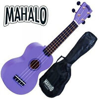 Mahalo Purple Ukulele Rainbow Series NEW WITH GIG BAG