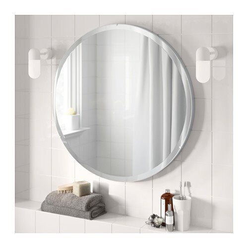 new boxed ikea ronglan oval mirror 80cm in chatham kent gumtree. Black Bedroom Furniture Sets. Home Design Ideas