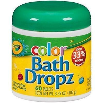 Crayola Kids Children Color Bath Drops Pack Of 60 Coloring Water Tablets