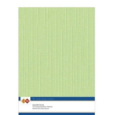 (EUR 4,81/m²) Leinenkarton 10xA4-Bogen maigrün 21