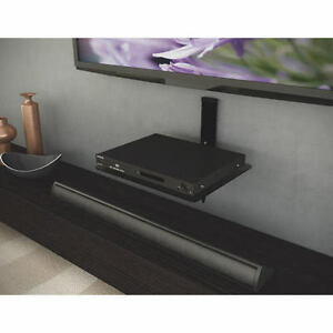 Triple Shelving for Audio And TV Components Wall Mounted