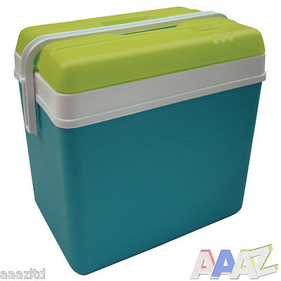 Large 24 litre Cooler Box Camping Beach Picnic Food Ice Insulated Coolbox Travel