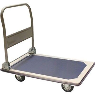 300 Lb Capacity Hand Platform Flat Cart Dolly With Folding Handle Handcart