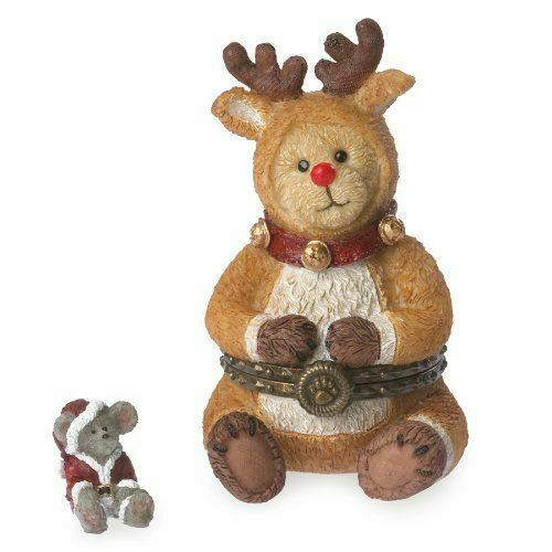 BOYDS TREASURE BOX COLLECTION - HINGED BOX - RUDOLPH W/ JOLLY MCNIBBLE