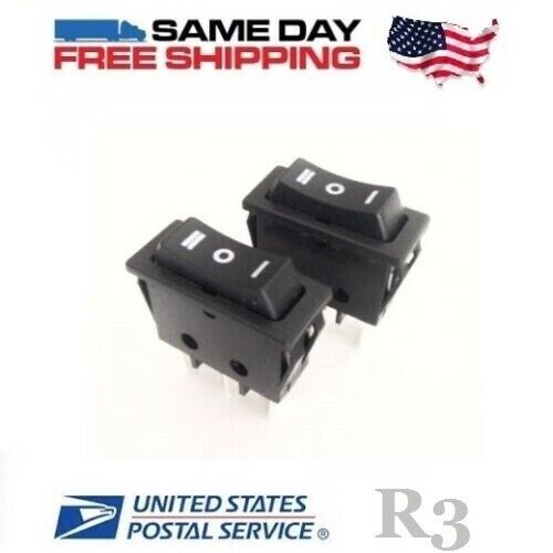 2 x Momentary SPDT ~ Single Pole Double Throw 3-Pin (ON-OFF-ON) Rocker Switches
