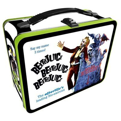 Beetlejuice NEW * Metal Lunchbox Tote * Comedy Tin Lunch Box Horror Movie ()