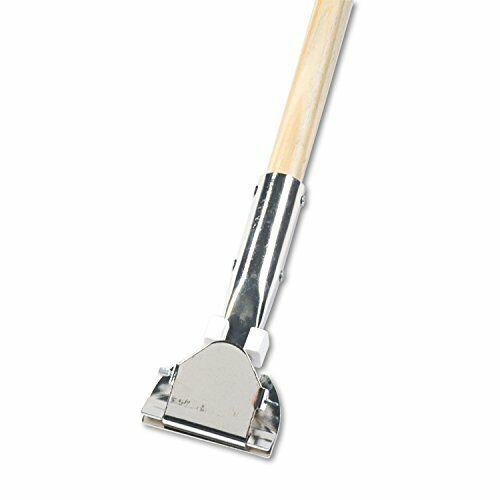 "Boardwalk Clip-On Dust Mop Handle, Lacquered Wood, Swivel Head, 1"" Diax 60"" Long"