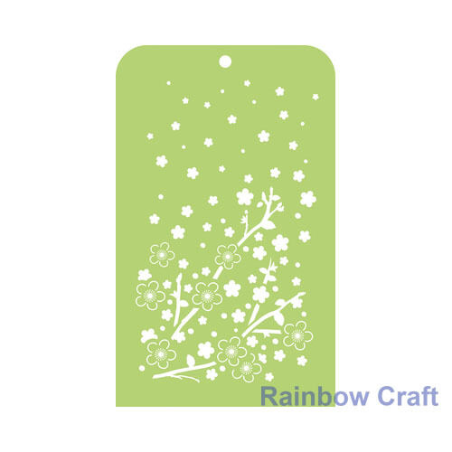 Kaisercraft Mini Designer Templates Stencils Blossom Christmas Holly Leaves - Cherry Blossom