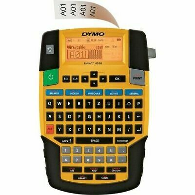 Dymo Rhino 4200 Industrial Labeling Tool- 34- 19mm- New