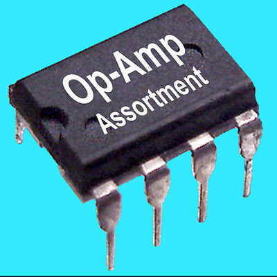 28 Pc Linear Op-amp Assortment - Mix Of 7 Types Of Single Dual Dip8 Op-amps