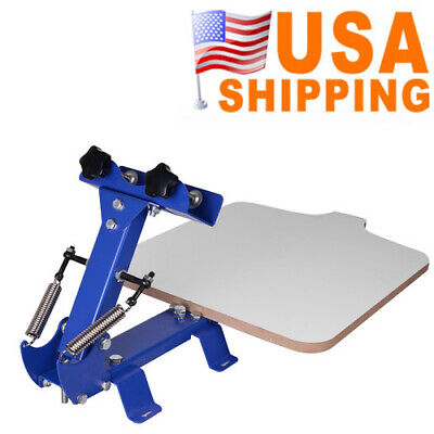Easy Use 1 Station Area Silk Screen Printing Press Machine 21.7x17.7 In Portable