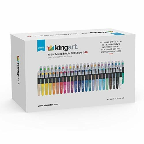 KINGART Gel Stick Crayons, Set of 48 Unique Colors, Assorted