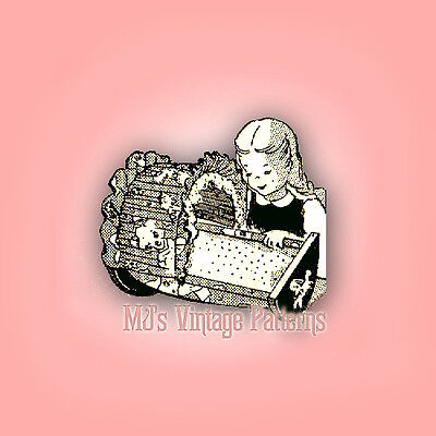 Vintage Baby Dolls Cradle Pattern for sale  Shipping to India
