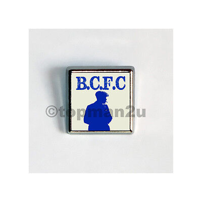 New, Quality Square Metal Pin Badge - BCFC Peaky Blinders - Retro