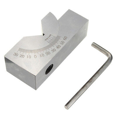 75x25x32mm Toolmaker Precision Micro Adjustable Angle V Block Milling 0 To 60