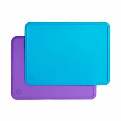 Silicone Placemats for Kids 2 Pack Blue/Purple