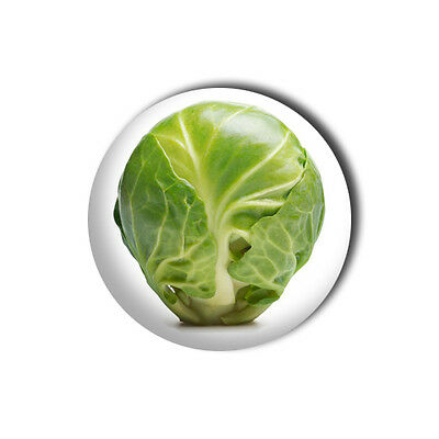 Brussel Sprout 1 inch/ 25mm Button Pin Badge - Christmas Xmas Dinner Novelty