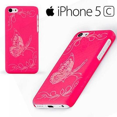 Butterfly Case Handy Cover Apple Iphone 5C Pink Schutz Hülle Etui Schmetterling Pink Butterfly Handy
