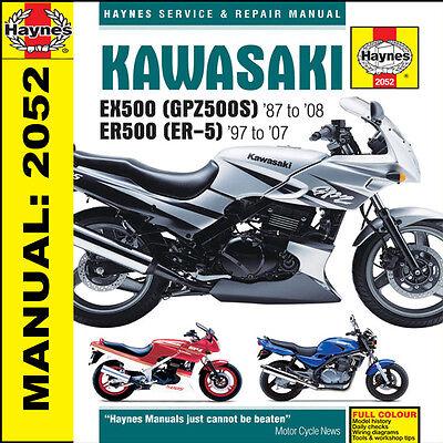 KAWASAKI ER5 EX500 GPZ500S 1987-2008 Haynes Manual NEW