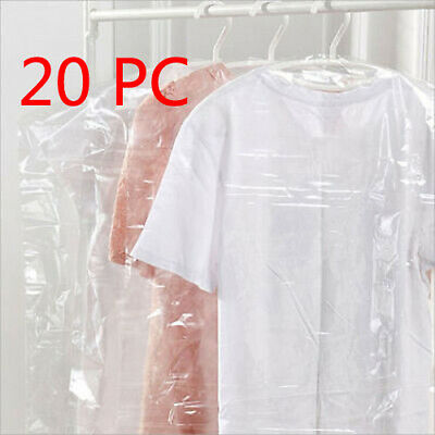 20pcs Clothes Suit Garment Dustproof Cover Transparent Plast