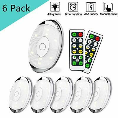 LED Puck Lights Wireless Under Cabinet Lighting with Remote Battery Operated  Battery Operated Puck Lights