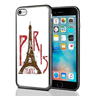 Paris France Eifel Tower White For Iphone 7 Case Cover By Atomic Market