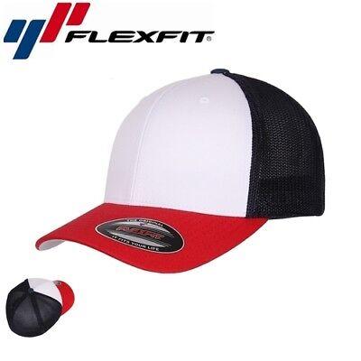 Weiß Mesh Cap (Flexfit Mesh Trucker Trucker Cap L/XL Navyblau Weiß)