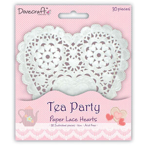Deluxe White Paper Lace Love Heart 5