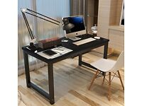 Tribesigns Black PC Office Desk Table