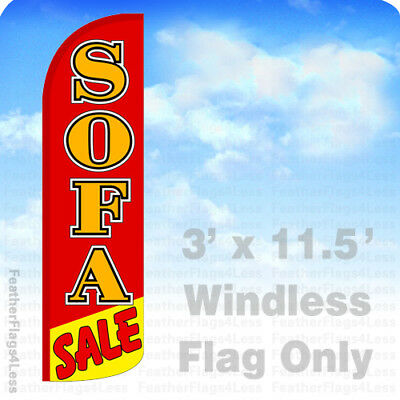 Sofa Sale Windless Swooper Flag Feather Banner Sign 3x11.5 Rq