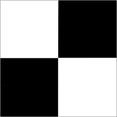 Black White Checkered Vinyl Floor Self Stick Tiles Adhesive Flooring - 40 Pieces