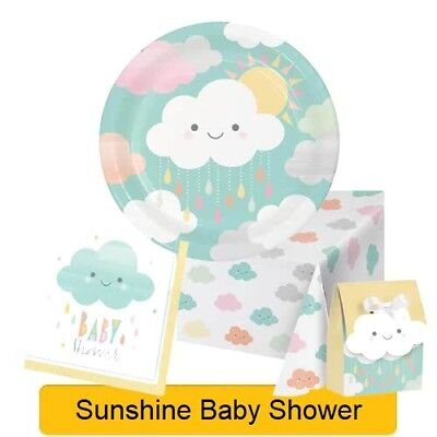Sunshine Baby ( SUNSHINE BABY SHOWER Range Tableware Balloons Decorations Supplies NEW - CP 1C)