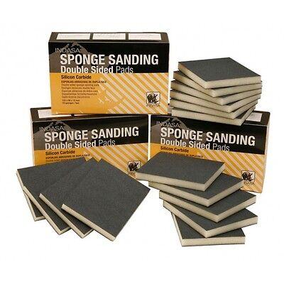 10 x P180 Grade Sponge Pads INDASA 122 x 98 x 12mm box of 10