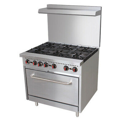 Value Series Cr6 36 6 Burner Gas Range - Free Casters And Oven Rack Included