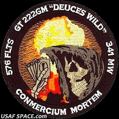 USAF 576th FLIGHT TEST SQ -ICBM-Minuteman- GLORY TRIP 222GM- VAFB- 341 MW -PATCH for sale  Fullerton