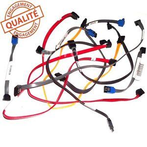 lot 10 nappes cables sata vari es pour connexion interne disque dur lecteur dvd ebay. Black Bedroom Furniture Sets. Home Design Ideas