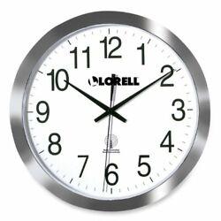 Lorell Radio Controlled Wall Clock - Digital - Quartz - Atomic (LLR60996)
