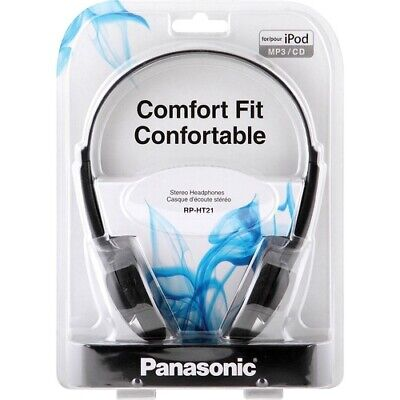 Used, Panasonic RP-HT21 Lightweight Headphone - Wired - 16 Ohm - 16 Hz 22 kHz - 4.50 f for sale  Shipping to India