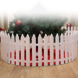 1pc Christmas Tree Fence Decor Miniature Garden Xmas Decoration