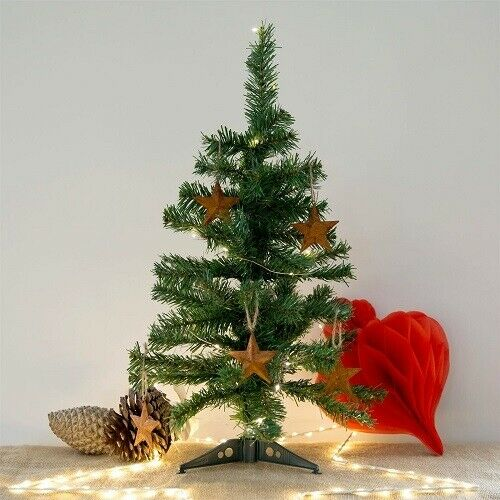 CHRISTMAS TREE 18in GREEN TABLE TOP CHARLIE PINE SMALL MINI DESK HOME ARTIFICIAL Christmas Trees